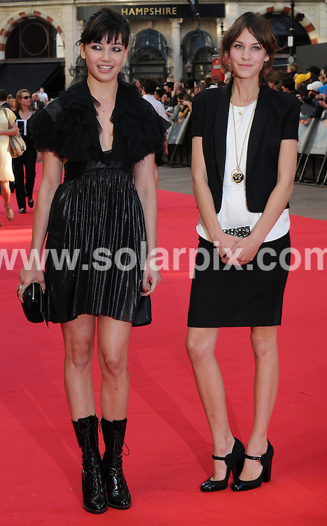 **ALL ROUND PICTURES FROM SOLARPIX.COM**.**WORLDWIDE SYNDICATION RIGHTS**.The Red carpet arrivals at the European Premiere of The Dark Knight  Held at the Odeon in Leicester Square in London..This pic:Daisy Lowe,Alexa Chung..JOB REF: 6887-SSD     DATE:21_07_08.**MUST CREDIT SOLARPIX.COM OR DOUBLE FEE WILL BE CHARGED* *UNDER NO CIRCUMSTANCES IS THIS IMAGE TO BE REPRODUCED FOR ANY ONLINE EDITION WITHOUT PRIOR PERMISSION*