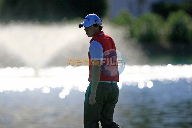 Rory McIlroy (N.IRL) waits to putt on the 4th green during the morning session on Day 3 of the Volvo World Match Play Championship in Finca Cortesin, Casares, Spain, 21st May 2011. (Photo Eoin Clarke/Golffile 2011)