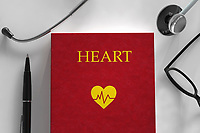 Medical book about the heart