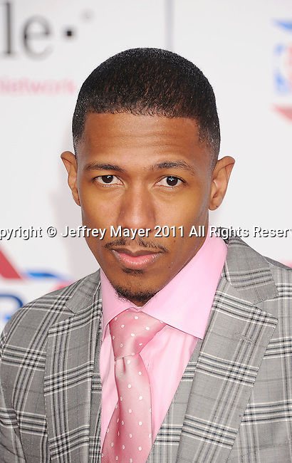 LOS ANGELES, CA - FEBRUARY 20: Nick Cannon arrives at the T-Mobile Magenta Carpet at the 2011 NBA All-Star Game at L.A. Live on February 20, 2011 in Los Angeles, California.