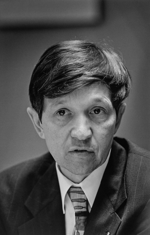 Rep. Dennis Kucinich, D-Ohio, in his office. 1996 (CQ Roll Call via Getty Images)