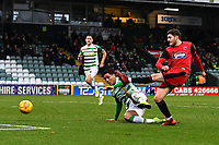Elliot Embleton of Grimsby Town shoots for goal during Yeovil Town vs Grimsby Town, Sky Bet EFL League 2 Football at Huish Park on 9th February 2019