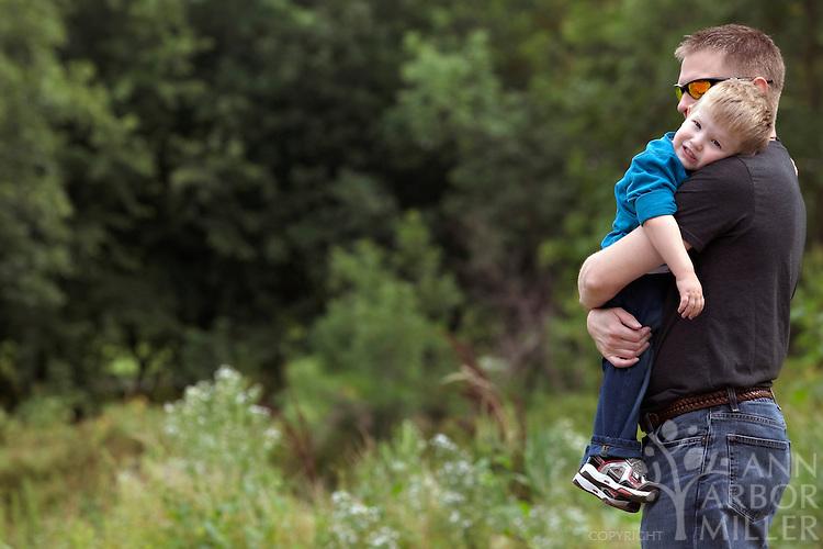 Photographs of the Jensen boys - Davis, 6, and Reid, 2,  taken in south Fargo, N.D., on Sunday, Sept. 5, 2010. Parents are Kirsten and Travis Jensen of Fargo. Photography by Ann Arbor Miller
