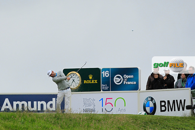 Andy Sullivan (ENG) on the 16th tee during Round 4 of the 100th Open de France, played at Le Golf National, Guyancourt, Paris, France. 03/07/2016. <br /> Picture: Thos Caffrey | Golffile<br /> <br /> All photos usage must carry mandatory copyright credit   (&copy; Golffile | Thos Caffrey)