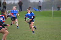 Action from the Manawatu women's rugby union match between Varsity and Feilding Old Boys Oroua at Massey University in Palmerston North, New Zealand on Saturday, 18 July 2020. Photo: Dave Lintott / lintottphoto.co.nz