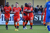 5th November 2017, Damson Park, Solihull, England; FA Cup first round, Solihull Moors versus Wycombe Wanderers; Adebayo Akinfenwa of Wycombe Wanderers and Craig Mackail-Smith of Wycombe Wanderers celebrate