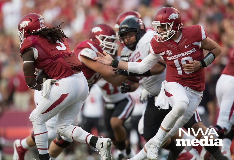 HAWGS ILLUSTRATED JASON IVESTER<br /> 09-19-15 Arkansas vs Texas Tech football