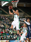 North Texas Mean Green forward Roger Franklin (32) in action during the game between the Jackson State Tigers and the University of North Texas Mean Green at the North Texas Coliseum,the Super Pit, in Denton, Texas. UNT defeated Jackson State 69 to 55...