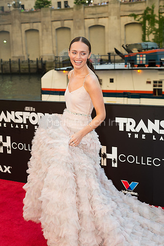"CHICAGO, IL - JUNE 20: Actress Laura Haddock at the U.S. Premiere of Michael Bay's ""Transformers: The Last Knight"" at the Civic Opera House in Chicago, Illinois on June 20, 2017: Credit: Cindy Barrymore/MediaPunch"