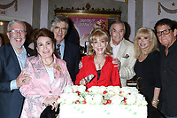LOS ANGELES - AUG 21:  Leonard Maltin, Donelle Dadigan, Elliott Gould, Barbara Eden, Peter Marshal, Loni Anderson, Anson WIlliams at the Barbara Eden Tribute Exhibition Opening Night at the Hollywood Museum on August 21, 2019 in Los Angeles, CA