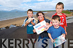 CREATURE FEATURE: Conor, Robert and Andrew Kerins from Tralee were excited to learn all about sea creatures at the Marine Creature Feature with Lucy Hunt in Fenit on Thursday..