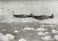 610 Sqn Spitfire MkI<br /> Spitfire (2018)<br /> *Filmstill - Editorial Use Only*<br /> CAP/PLF<br /> Image supplied by Capital Pictures