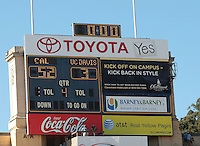 Final Score. The University of California Berkeley Golden Bears defeated the UC Davis Aggies 52-3 in their home opener at Memorial Stadium in Berkeley, California on September 4th, 2010.