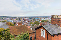 BNPS.co.uk (01202 558833)<br /> Pic: Rightmove/BNPS<br /> <br /> The home has views over Lincoln<br /> <br /> A period property halfway up one of England's steepest hills is not a home for the faint-hearted.<br /> <br /> The buyer of this house - on the market for £975,000 - will need to be an energetic fitness fan to face the tough slog up the aptly named Steep Hill; the fourth steepest street in the country.<br /> <br /> The Grade II Listed townhouse is on Christs Hospital Terrace in Lincoln, a quaint cobbled street that branches off Steep Hill.<br /> <br /> The road has an unusually severe 16.12-degree gradient, making it one of the steepest residential streets in England, according to the Ordnance Survey.