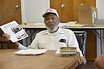 """3/12/15  Raleigh, MS- Civil rights iconic James Meredith speaks at the Scoot County Public Library Thursday March 12, 2015. Meredith discussed his new book """" The 10 Commandments """" he recently self published. Meredith has published over 20 books and has spoken at over 70 libraries in his home state of Mississippi.Photo © Suzi Altman"""
