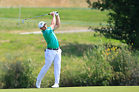 Paul Dunne (IRL) on the 1st fairway during Round 4 of the HNA Open De France at Le Golf National in Saint-Quentin-En-Yvelines, Paris, France on Sunday 1st July 2018.<br /> Picture:  Thos Caffrey | Golffile