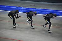 SCHAATSEN: HEERENVEEN: 17-06-2014, IJsstadion Thialf, Zomerijs training, Sven Kramer, Douwe de Vries, Wouter olde Heuvel, ©foto Martin de Jong