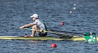 Rotterdam. Netherlands.   Non Olympic Classes World Championships, Finals.  IRL LM1X.   Paul O'DONOVAN,   at the Willem-Alexander Baan.   Saturday  27/08/2016 <br /> <br /> [Mandatory Credit; Peter SPURRIER/Intersport Images]