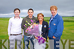 Lorcan Nyhan, Cormac Nyhan, Sandra Nyhan and Frank Nyhan at the Official opening of the New Clubhouse at Castlegregory golf course on Saturday.