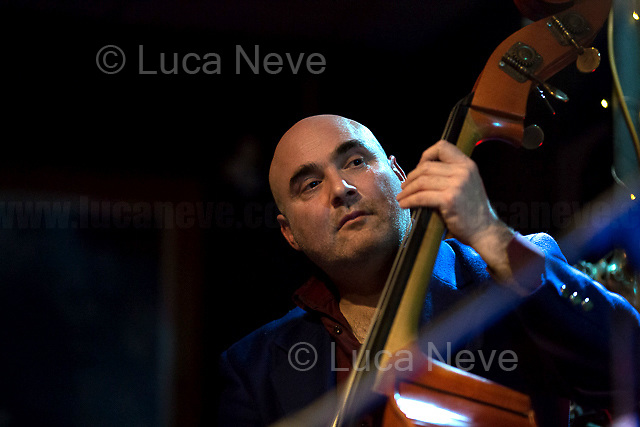 Rome, 01/02/2018. Alessandro Nosenzo, and his Band, in concert at 'Na Cosetta, Pigneto, Rome. From Nosenzo Official page: &lt;&lt;Mediterranean Sound and Gypsy Heart, Alessandro Nosenzo embraces different styles and historical periods for his music, looks to the East and embraces the earth. His music is a mixture of cultures and gives way to dances watching the world as a beautiful playground [&hellip;]&gt;&gt;. <br />