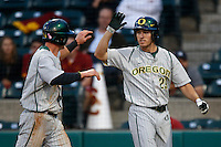 Steven Packard #29 of the Oregon Ducks during a baseball game against the USC Trojans at Dedeaux Field on March 15, 2013 in Los Angeles, California. (Larry Goren/Four Seam Images)