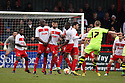 Paddy Madden of Yeovil fire in a free-kick. Stevenage v Yeovil Town- npower League 1 -  Lamex Stadium, Stevenage - 13th April, 2013. © Kevin Coleman 2013.. . . . .. . . .  . . .  .