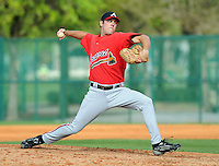 17 March 2009: RHP Mike Mehlich of the Atlanta Braves at Spring Training camp at Disney's Wide World of Sports in Lake Buena Vista, Fla. Photo by:  Tom Priddy/Four Seam Images