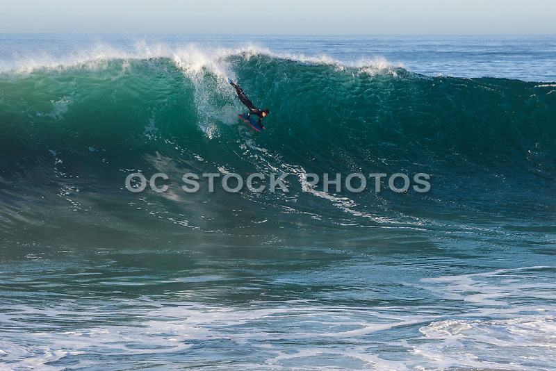 Boogie Boarding at the Wedge in Newport Beach