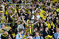 Wellington Phoenix Fans during the A League - Wellington Phoenix v Newcastle Jets at Westpac Stadium, Wellington, New Zealand on Sunday 21 October  2018. <br /> Photo by Masanori Udagawa. <br /> www.photowellington.photoshelter.com