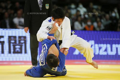 (L-R) Masashi Ebinuma, Tomofumi Takajo (JPN), DECEMBER 5, 2015 - Judo : IJF Grand Slam Tokyo 2015 International Judo Tournament Men's -66kg Final Match at Tokyo Metropolitan Gymnasium, Tokyo, Japan. (Photo by Yusuke Nakanishi/AFLO SPORT)