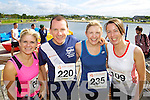 Sinead Dowling, David, Olga Slattery and Laraine O'donnell pictured at the Rose of Tralee International 10k Race in Tralee on Sunday.