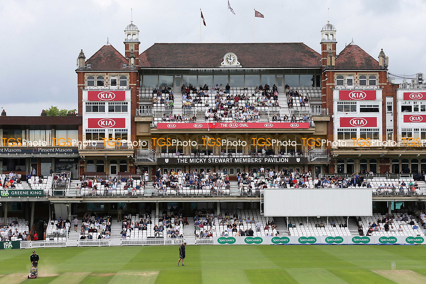 General view of the Pavillon at The Oval just prior to the state of play during Surrey CCC vs Kent CCC, Specsavers County Championship Division 1 Cricket at the Kia Oval on 7th July 2019