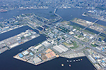Tokyo Big Sight Hall: Tokyo, Japan: Aerial view of proposed venue for the 2020 Summer Olympic Games. (Photo by AFLO)