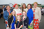 Enjoying Ladies Day at the Listowel Races on Friday were: Front left to right, Aideen O'Carroll, Dervela O'Carroll, Ava Doyle.  Back left to right, Breda O'Sullivan, Liz O'Carroll, Ann Maria McEnery, Loriena Duggan, Nora Costello from Asdee and Ballybunion