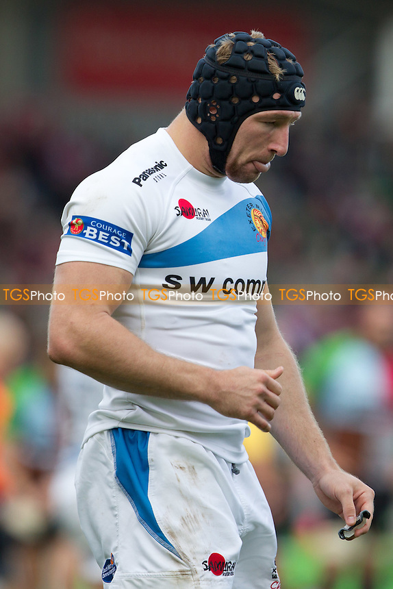 Matt Jess (Exeter Chiefs) - Harlequins RFC vs Exeter Chiefs RFC - Aviva Premiership Rugby at Twickenham Stoop - 29/10/11 - MANDATORY CREDIT: Ray Lawrence/TGSPHOTO - Self billing applies where appropriate - 0845 094 6026 - contact@tgsphoto.co.uk - NO UNPAID USE.
