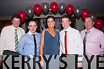 Social<br /> -------<br /> Attending their annual Christmas social were members of Kerry Foxhounds Hunt club in the Manor West hotel,Tralee last Saturday night were L-R Martin O'Leary,Padhraic Moynihan,Tina Healy,Padraig Nagle&amp;Myles Healy.