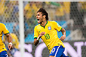 Neymar (BRA), JUNE 12, 2014 - Football / Soccer : Neymar of Brazil celebrates their 1st goal during the FIFA World Cup Brazil 2014 Group A match between Brazil 3-1 Croatia at Arena de Sao Paulo in Sao Paulo, Brazil. (Photo by Maurizio Borsari/AFLO)