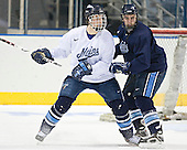 John Hopson, Matt Duffy - The University of Maine Black Bears practiced on Wednesday, April 5, 2006, at the Bradley Center in Milwaukee, Wisconsin, in preparation for their April 6 2006 Frozen Four Semi-Final game versus the University of Wisconsin.