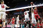 UNCASVILLE CT. 17 March 2018-031718SV11-#3 Sean Coffey of Wamogo puts up a shot in the 3rd quarter against Cromwell during the CIAC Division V Finals at Mohegan Sun Arena in Uncasville Saturday.<br /> Steven Valenti Republican-American