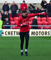 Lincoln City's Josh Vickers during the pre-match warm-up<br /> <br /> Photographer Andrew Vaughan/CameraSport<br /> <br /> The EFL Sky Bet League Two - Crewe Alexandra v Lincoln City - Wednesday 26th December 2018 - Alexandra Stadium - Crewe<br /> <br /> World Copyright &copy; 2018 CameraSport. All rights reserved. 43 Linden Ave. Countesthorpe. Leicester. England. LE8 5PG - Tel: +44 (0) 116 277 4147 - admin@camerasport.com - www.camerasport.com