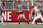 Luke Falk fires his first collegiate touchdown pass during the Washington State Cougars non-conference home opener against the Portland State Vikings at Martin Stadium in Pullman, Washington, on September 13, 2014.  The Cougs defeated PSU 59-21
