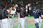 (L to R) <br /> Hirotoshi Masui, <br /> Seiji Kobayashi (JPN), <br /> MARCH 12, 2017 - WBC : <br /> 2017 World Baseball Classic <br /> Second Round Pool E Game <br /> between Japan 8-6 Netherlands <br /> at Tokyo Dome in Tokyo, Japan. <br /> (Photo by YUTAKA/AFLO SPORT)