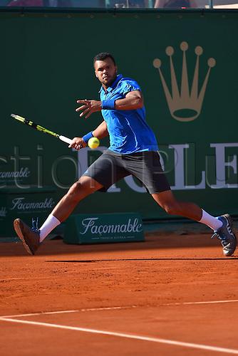 12.04.2016. Monte Carlo, Monaco. Monte Carlo ATP Tennis championships.  Jo Wilfried Tsonga (fra)