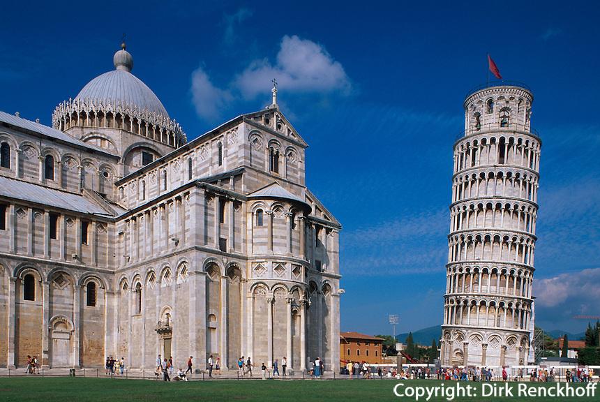Dom und schiefer Turm, Pisa,Toskana, Italien, Unesco-Weltkulturerbe