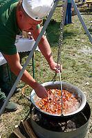 Ozporkolt ( deer porkolt) . Paprika food festival, Kalocsa. Hungary