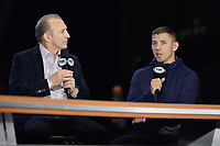 BROOKLYN, NY - DECEMBER 20: (L-R) Ray Mancini interviews boxer Matt Korobov as they attend the Fox Sports and Premier Boxing Champions press conference for the December 22 Fox PBC Fight Night at the Barclay Center on December 20, 2018 in Brooklyn, New York. (Photo by Anthony Behar/Fox Sports/PictureGroup)