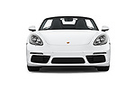 Car photography straight front view of a 2019 Porsche 718-Boxster - 2 Door Convertible Front View