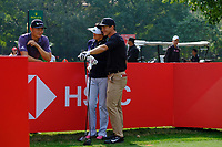 Haotong Li (CHN) and Thorbjorn Olesen (DEN) during the Pro-Am at the WGC HSBC Champions 2018, Sheshan Golf CLub, Shanghai, China. 24/10/2018.<br />