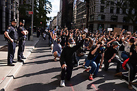 NEW YORK, NEW YORK - MAY 31: People take knee during a protest on May 31, 2020 in New York. Protests spread across the country in at least 30 cities in the United States. USA For the death of unarmed black man George Floyd at the hands of a police officer, this is the latest death in a series of police deaths of black Americans (Photo by Stephen Ferry/ VIEWpress via Getty Images)