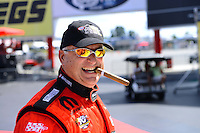 Sept. 14, 2012; Concord, NC, USA: NHRA pro stock driver V. Gaines during qualifying for the O'Reilly Auto Parts Nationals at zMax Dragway. Mandatory Credit: Mark J. Rebilas-